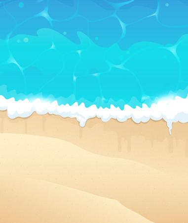 foaming: Ocean shore with sandy beach and foaming waves