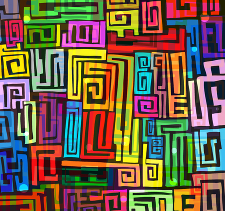 Abstract colorful funky background