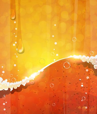nonalcoholic: Beer mug with foam close up background