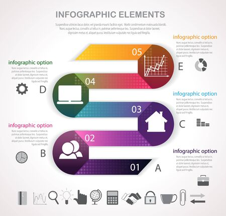 business strategy: Business infographics with graphs and icons