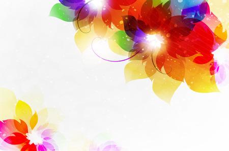 Transparent flowers. Résumé carte floral avec place pour le texte