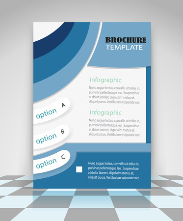 Blue abstract vector business background. Creative flyer design, poster, booklet, brochure Иллюстрация