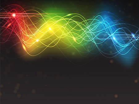 spectral: Abstract glowing digital background with sparkling spectral waves