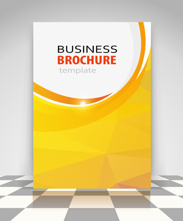 Yellow abstract vector business background. Creative flyer design, poster, booklet, brochure