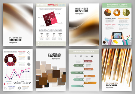 web site design: Abstract vector backgrounds and brochures for web and mobile applications. Business and technology infographic, icons, creative template design for presentation, poster, cover, booklet, banner.