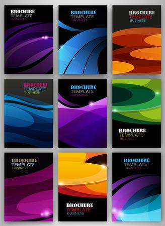 portadas: Fondos abstractos del vector y folletos para la web y las aplicaciones móviles. Diseño de la plantilla creativa para su presentación, cartel, portada, folleto, banner. Vectores
