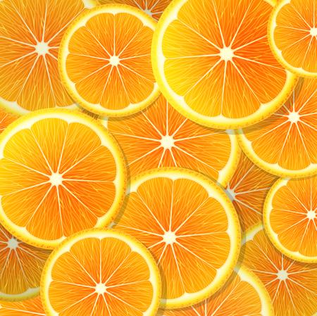 orange slices: Juicy orange slices background Illustration