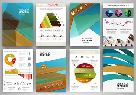 poster backgrounds: Abstract vector backgrounds and brochures for web and mobile applications. Business and technology infographic, icons, creative template design for presentation, poster, cover, booklet, banner.