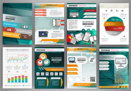 抽象的なベクトルの背景、web およびモバイル アプリケーションのためのパンフレット。ビジネスと技術のインフォ グラフィック、アイコン、プレ