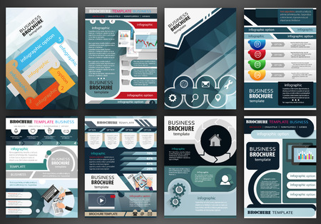 flyer background: Abstract vector backgrounds and brochures for web and mobile applications. Business and technology infographic, icons, creative template design for presentation, poster, cover, booklet, banner.