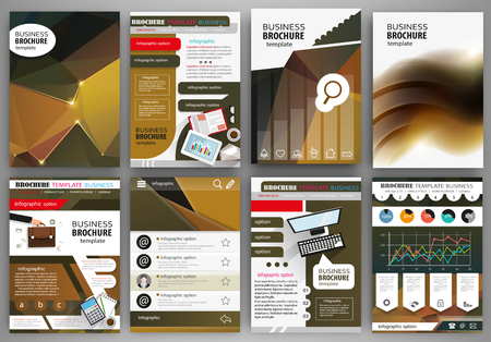 corporate people: Abstract vector backgrounds and brochures for web and mobile applications. Business and technology infographic, icons, creative template design for presentation, poster, cover, booklet, banner.