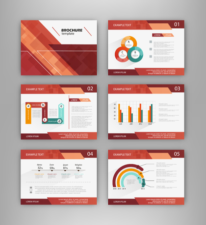 illustration abstract: Abstract vector backgrounds and Infographic brochure elements for business and finance visualization. Set of infographic templates for flyer, presentation, booklet, print, website