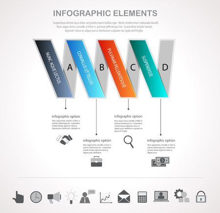 visualization: Infographic design template and business icons set. Template for diagram, graph, chart, flyer, presentation, print and website . Business and finance concept options, parts, steps  data visualization.