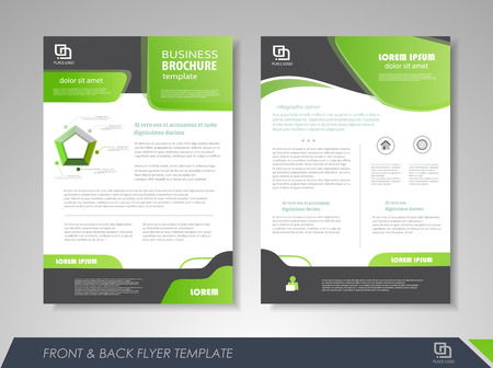 Front And Back Page Brochure Template Flyer Design Leaflet - Design brochure templates