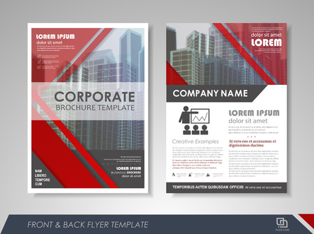Avant et page arrière rapport annuel modèle vecteur de conception brochure flyer. présentation de couverture Dépliant fond abstrait pour les entreprises, des magazines, des affiches, des brochures, des bannières. Mise en page au format A4. Vecteurs