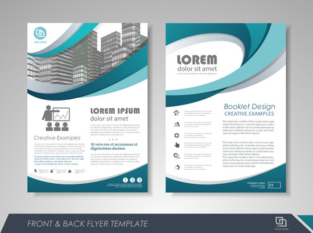 Blue annual report brochure flyer design template. Leaflet cover presentation abstract background for business, magazines, posters, booklets, banners. Layout in A4 size. Easily editable vector format. 向量圖像