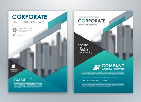 Blue annual report brochure flyer design template. Leaflet cover presentation abstract background for business, magazines, posters, booklets, banners. Layout in A4 size.  イラスト・ベクター素材