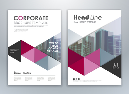 Purple annual report leaflet brochure flyer template design, layout design, abstract business presentation template design.