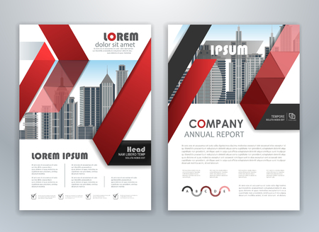 Red annual report leaflet brochure flyer template design, book and magazine cover layout design, abstract business presentation template design. Easily editable vector format.