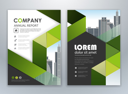 Green annual report leaflet brochure flyer template design, book and magazine cover layout design, abstract business presentation template design. Easily editable vector format.