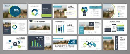 Modern presentation slide templates. Infographic elements template  set for web, print, annual report brochure, business flyer leaflet marketing and advertising template. Vector Illustration Иллюстрация