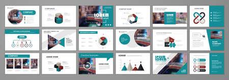 Presentation templates design. Vector templates portfolio with infographic elements. Multipurpose template for brochure cover, annual report, advertising, presentation slide, flyer leaflet. 矢量图像