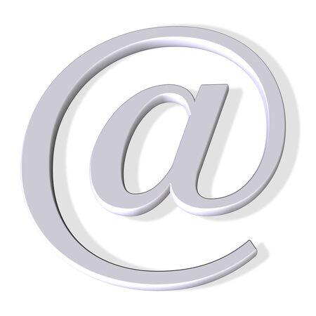 simbolo del email 3d Archivio Fotografico