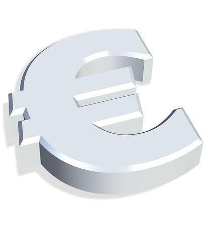 3d simbolo euro  Archivio Fotografico
