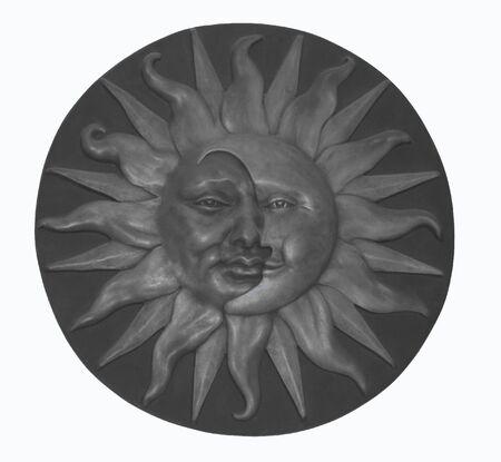 zon maan: Sun & Moon symbool Stockfoto