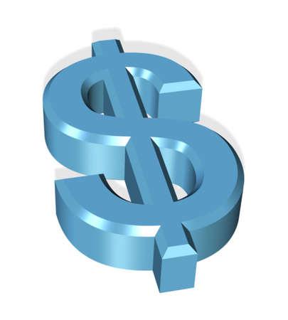 3d dollar symbol icon Stock Photo - 854855