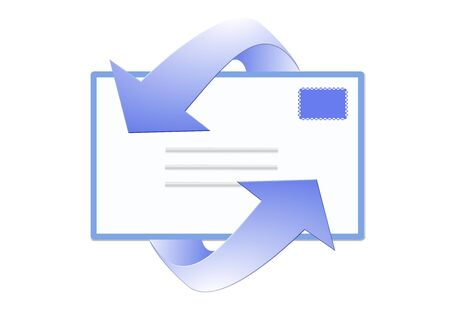 email symbol icon - computer generated illustration Banco de Imagens