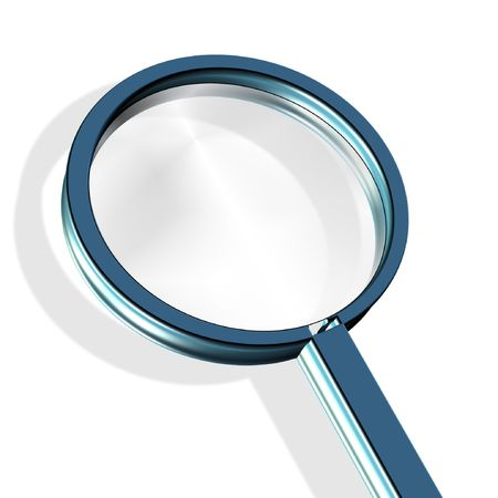 investigate: magnifying glass - investigate, research concept Stock Photo