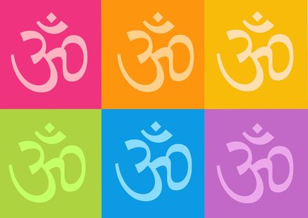 yoga yantras flowers - computer generated clipart photo