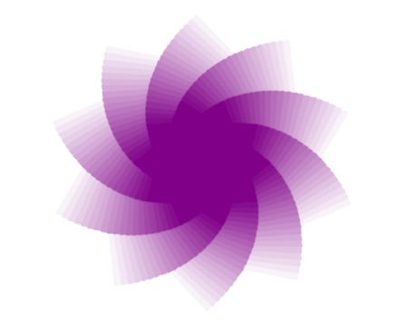 yoga yantras flowers - computer generated clipart