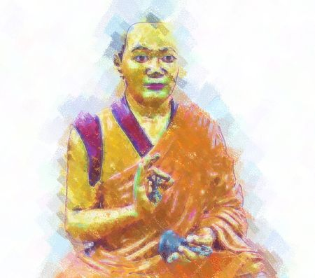buddha sitting in the posture of Meditation photo