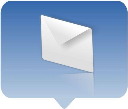 icona di simbolo del email - illustrazione generata calcolatore Archivio Fotografico