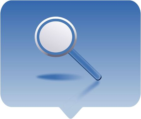 lense: magnifying glass icon -  computer generated clipart