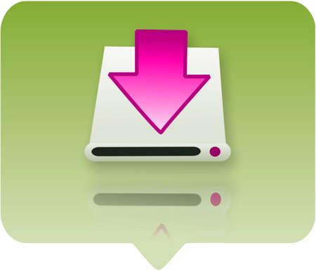 hardware icon: 3d hardware icon - computer generated clip-art