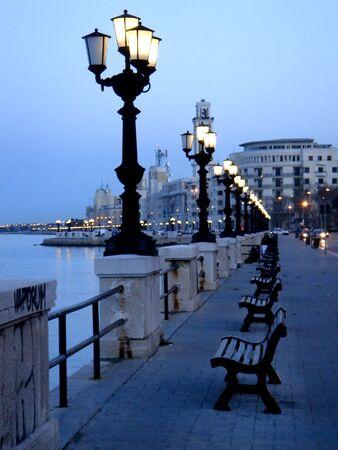 city of Bari - Italy - famous for the San Nicolas church  Stock Photo