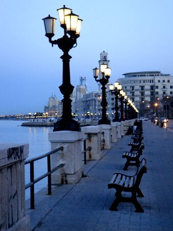 city of Bari - Italy - famous for the San Nicolas church  Banco de Imagens