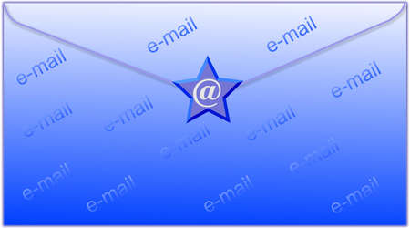 envelop: email symbol and envelop - computer generated clipart Stock Photo