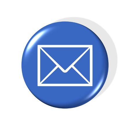 3d-mail simbolo - generato dal computer clipart