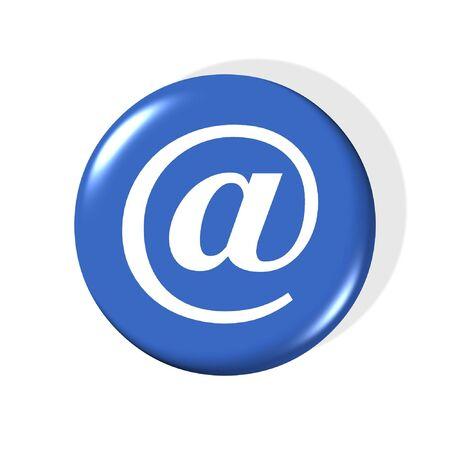 3d email simbolo - generato dal computer clipart  Archivio Fotografico