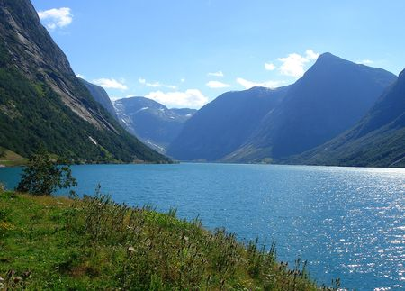 beautiful view of the Norwegian fjord - nord europe Stock Photo - 859884