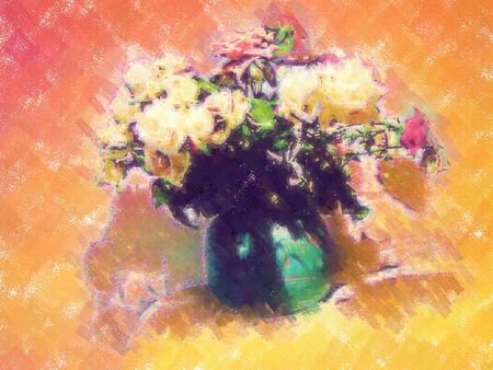 webtemplate: 2d picture painting - computer generated illustration Stock Photo