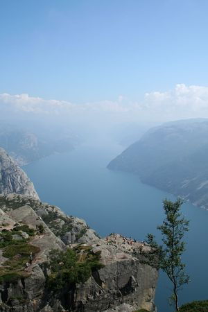beautiful view of the Norwegian fjord - nord europe Stock Photo - 859938