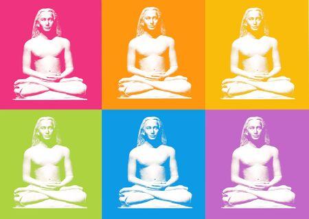 Loto yoga postura - computer generated clipart