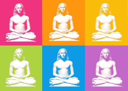 asanas: lotus yoga posture - computer generated clipart