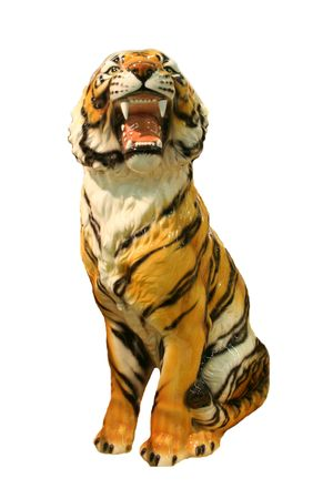 bengal tiger - tiger isolated over white background Stock Photo - 860239