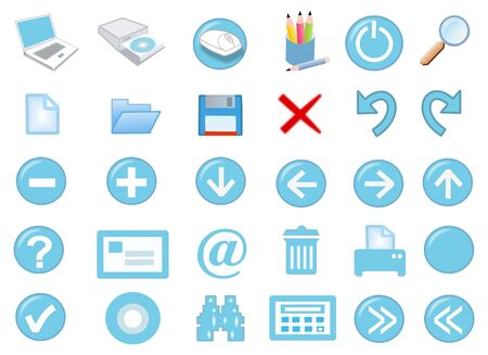 3d computer icon set - computer generated photo